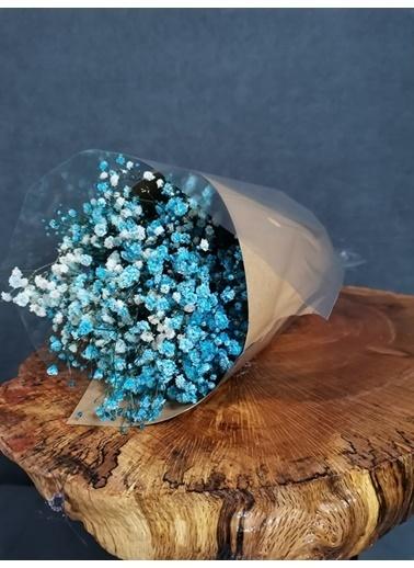Kuru Çiçek Deposu Kuru Çiçek Şoklanmış Cipso Mavi 45 Cm Mavi